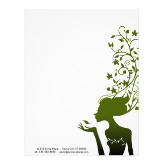 green sugar letterhead design