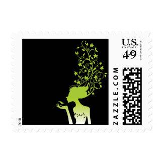 green sugar postage stamp