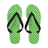 Green summer Flip Flops
