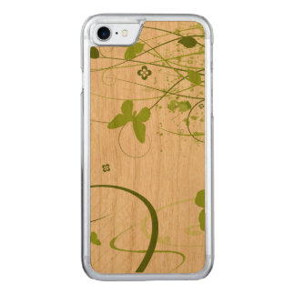 Green Summer Garden Carved iPhone 7 Case