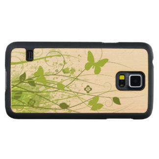 Green Summer Garden Carved® Maple Galaxy S5 Slim Case