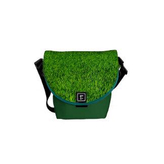 Green Summer Grass Texture Messenger Bag