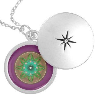 Green Sun Locket Necklace