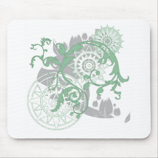 Green Sun Mouse Pad