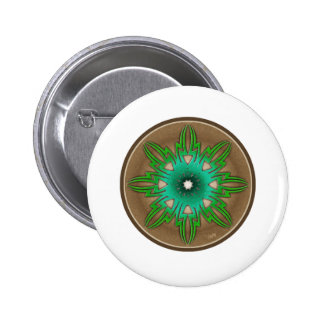 Green Sun Pinback Button