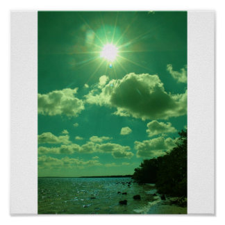 Green sun print