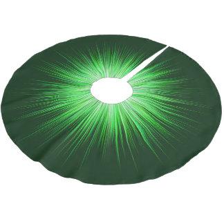 Green Sunburst Pattern Brushed Polyester Tree Skirt