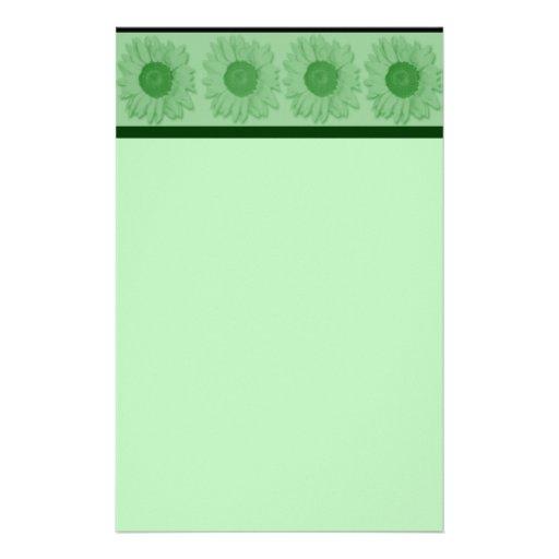 GREEN SUNFLOWERS stationery