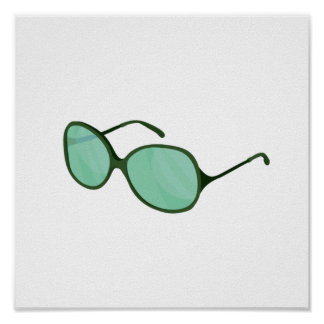 green sunglasses beach wear.png posters