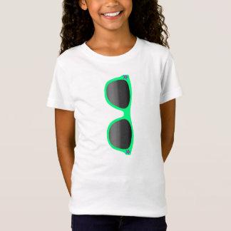 Green Sunglasses Girl's T-shirt