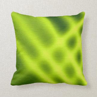 Green sunlight 3 throw pillow