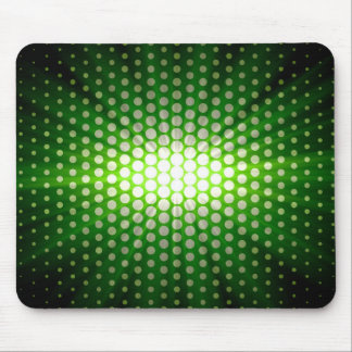 Green sunlight over polka dot mouse pad