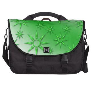 Green suns seamless pattern laptop computer bag