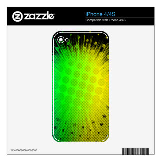 Green Super Hero Sunburst iPhone 4 Skins
