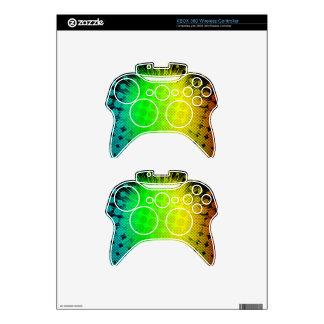 Green Super Hero Sunburst Xbox 360 Controller Decal