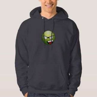 Green Superhero Smiley Face Sweatshirt