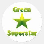 Green Superstar #1 Stickers