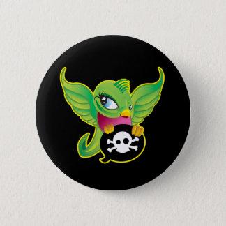 Green Swallow Pinback Button