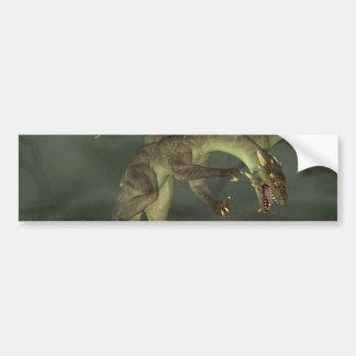 Green Swamp Dragon Bumper Sticker