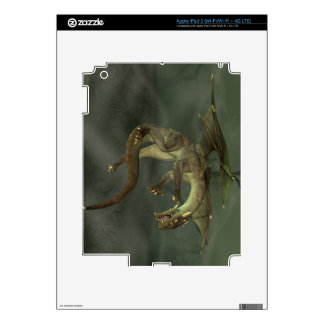 Green Swamp Dragon Decal For iPad 3
