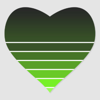 green swatch heart sticker