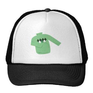 Green Sweater Mesh Hats