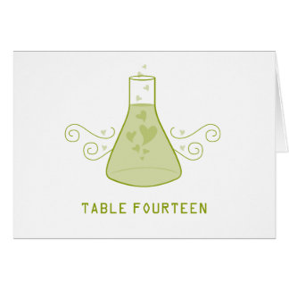 Green Sweet Chemistry Table Number Card