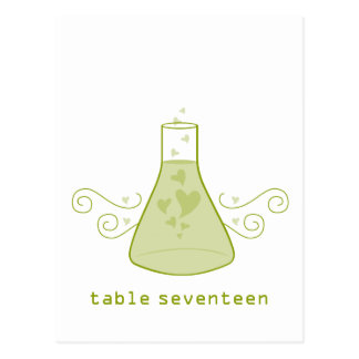 Green Sweet Chemistry Table Number Postcard