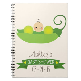 Green Sweet Pea Baby Shower Note Books