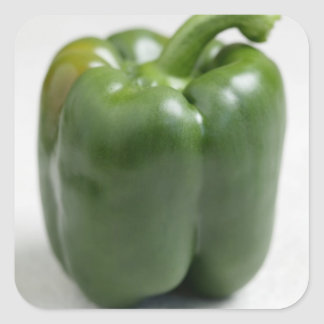 Green sweet pepper For use in USA only.) Square Sticker