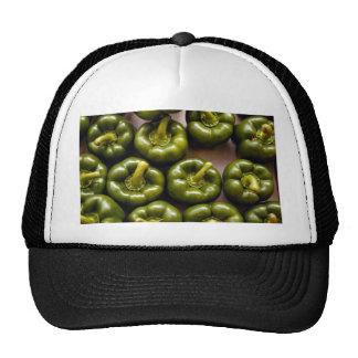 Green sweet peppers trucker hat
