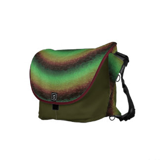 Green Swimmers Courier Bag