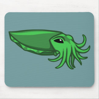 Green Swimming Cuttlefish Mouse Pad