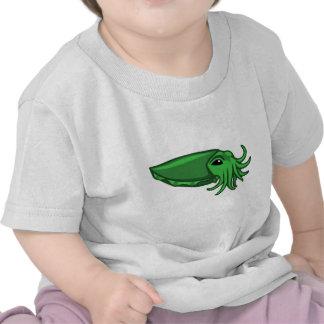Green Swimming Cuttlefish Tees