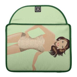 "Green Swimsuit Girl 13"" MacBook Pro Sleeve"
