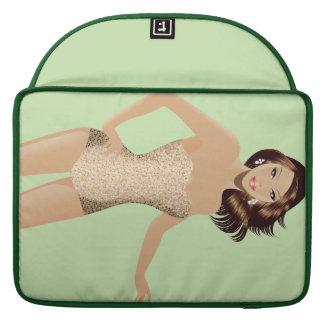 "Green Swimsuit Girl 15"" MacBook Pro Sleeve"