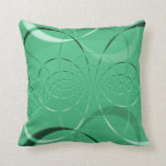 Green Swirl Abstract Accent Couch Pillow