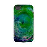 Green Swirl Agate iPhone 4 Case