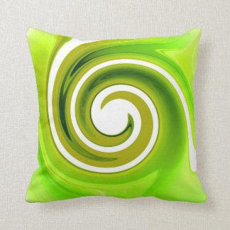Green Swirl American MoJo Pillows