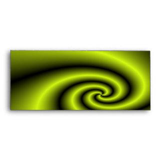 Green swirl background envelopes