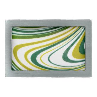 Green Swirl Belt Buckle