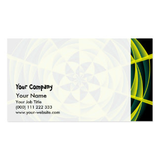 Green swirl business card