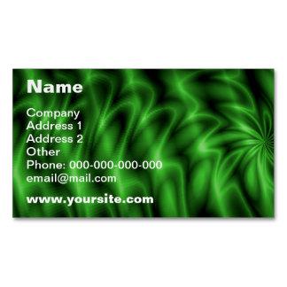 Green Swirl Business Card Magnet