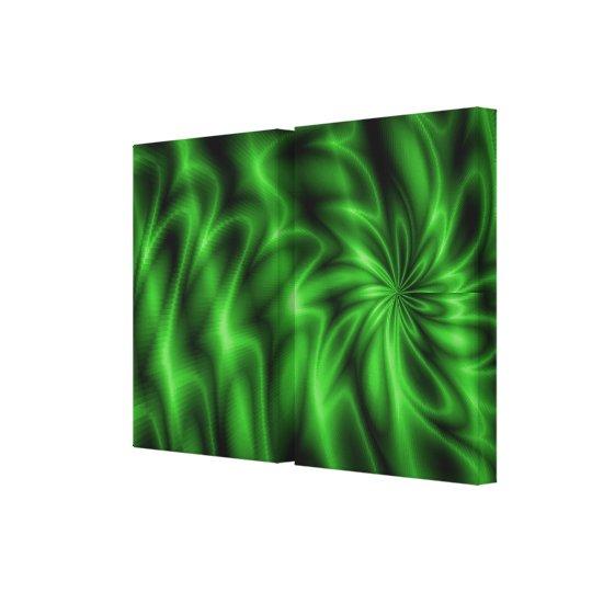 Green Swirl Canvas Print