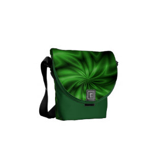 Green Swirl Courier Bag
