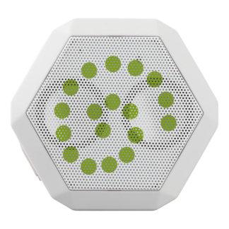 Green swirl dots speaker
