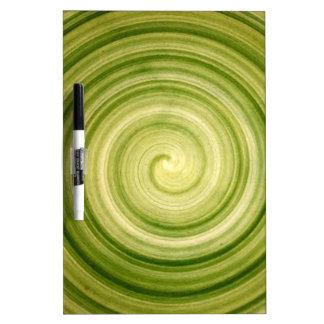 Green Swirl Dry-Erase Board
