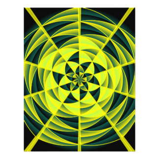 Green swirl flyer