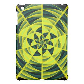 Green swirl iPad mini cases