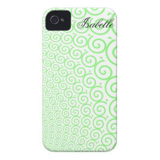 green swirl iphone case iPhone 4 Case-Mate case